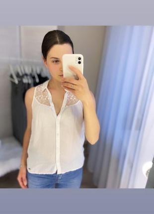Блуза блузка майка hollister натуральная ткань