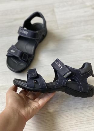 Анатомические кожаные босоножки сандалии
