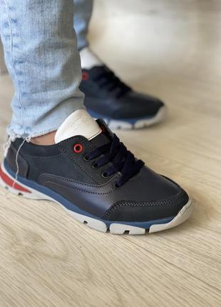 Гипер мягкие и удобные кроссовки из натуральной кожи