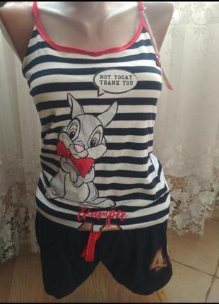 Лётняя лёгкая пижама  хлопок disney (в стиле  zara)