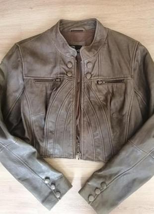 Винтажная кожаная куртка staff