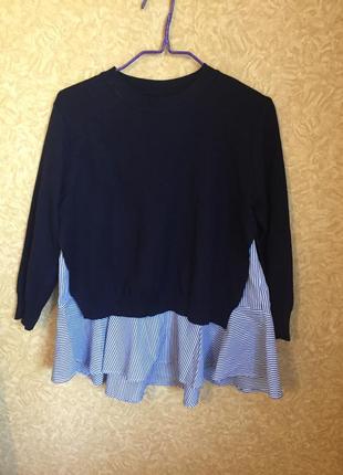 Очаровательный стильный комплект кофта   блузка(безрукавка)
