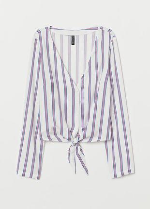 Летняя блузка с v-образным вырезом н&м