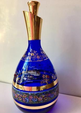 Графин murano venezia + бокалы 5 штук. муранское стекло италия.