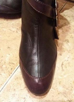 Сапоги кожа коричневые бренд оригинал emanuel ungaro раз.40 (26.2 см)