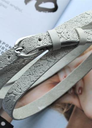 Узкий ремень на талию с цветочным узором