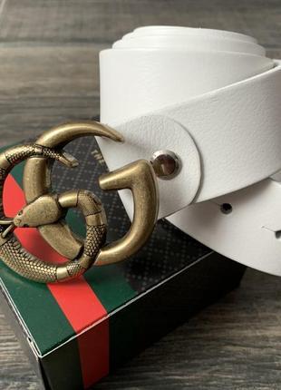 Gucci новый кожаный ремень белого цвета