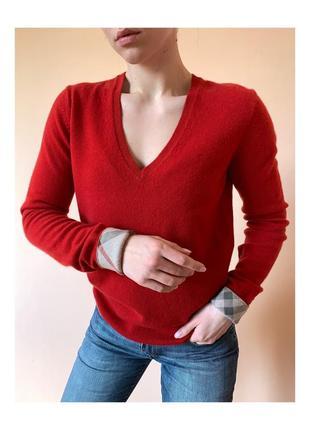 Burberry brit женский свитер с v вырезом оригинал