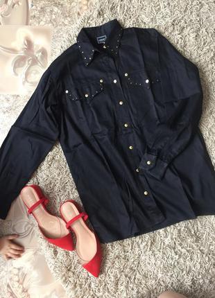 Рубашка versace версаче коттон натуральный состав чёрная рубашка