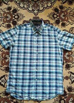 Рубашка чоловіча на короткий рукав tommy hilfiger