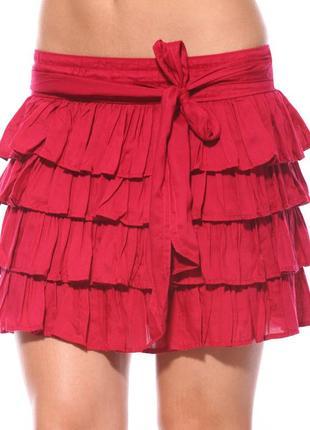 Малиновая юбка colin's