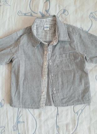 Рубашка на мальчика, рост 74 см