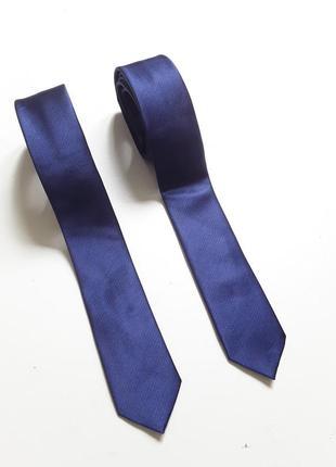 Галстуки темно синие  узкие