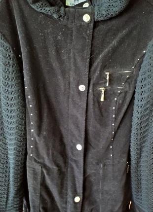 Куртка- ветровка из микровельвета  50-52 размер
