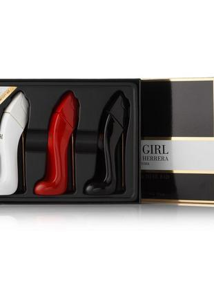 3x25ml подарочный набор мини-парфюмов carolina herrera good girl
