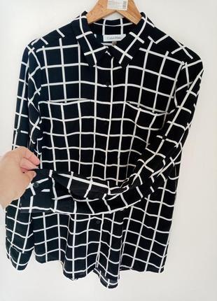 Calvin klein орыгинал рубашка черна в клетку рубашка в клітинку м-с 36-38