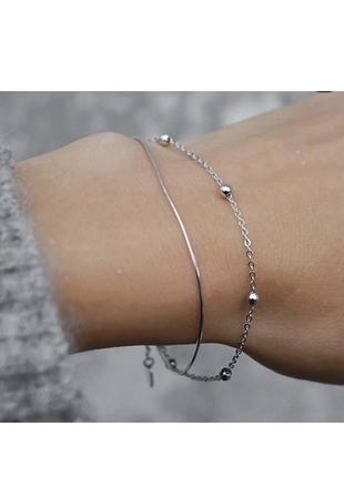 Очень красивый и нежный браслет в наличии, серебро