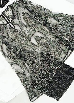 Шикарная расшитая блуза river island