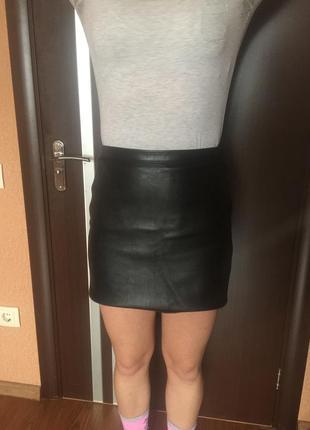 Кожаная юбка1 фото