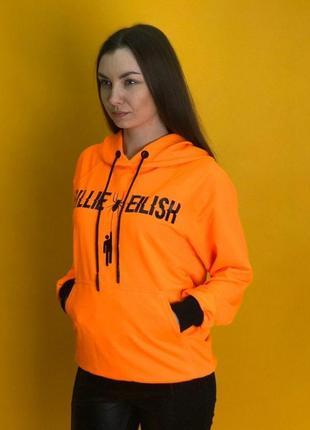 Худи женское billie eilish orange оранжевое