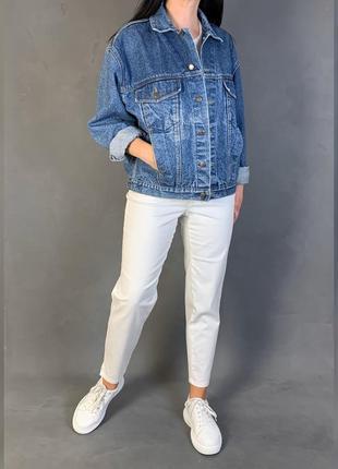 Джинсовая куртка/объёмная джинсовка в винтажном стиле !