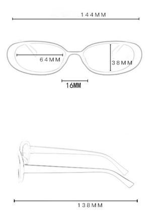Очки окуляри солнцезащитные солнце в стиле 90-х трендовые черные новые8 фото
