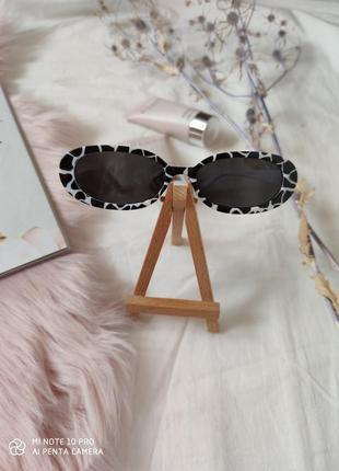 Очки окуляри солнцезащитные солнце в стиле 90-х трендовые черные новые5 фото