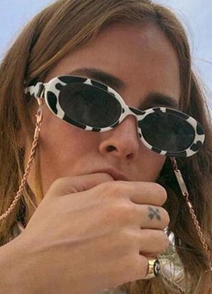 Очки окуляри солнцезащитные солнце в стиле 90-х трендовые черные новые1 фото