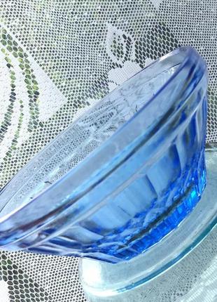 Креманка кобальтовое синее стекло ссср винтаж