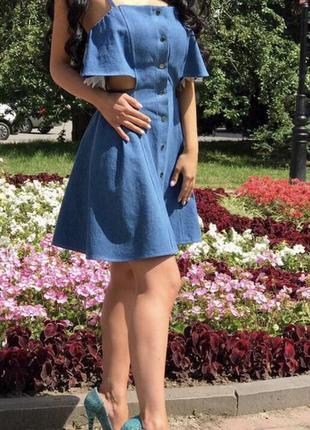 Джинсовые  летние платья