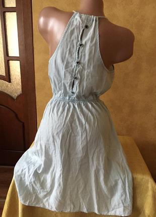 Невесомый сарафан на бретельках на резинке сзади на пуговицах/платье /юбка/топ