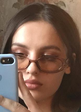 Очки окуляри цветные карамельные в стиле 90-х трендовые новые7 фото