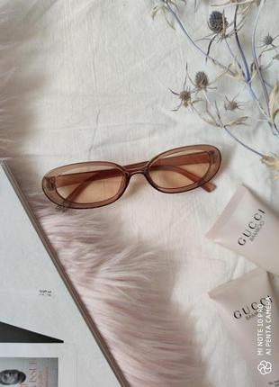 Очки окуляри цветные карамельные в стиле 90-х трендовые новые4 фото
