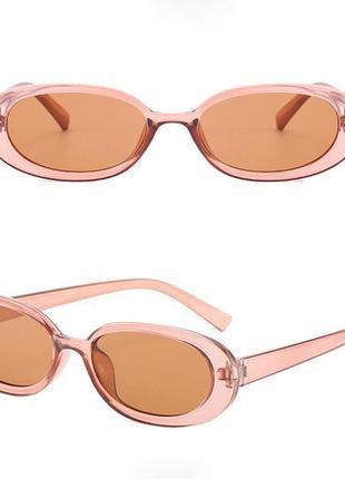 Очки окуляри цветные карамельные в стиле 90-х трендовые новые3 фото