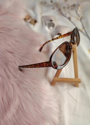 Очки окуляри цветные леопард карамельные в стиле 90-х трендовые новые8 фото