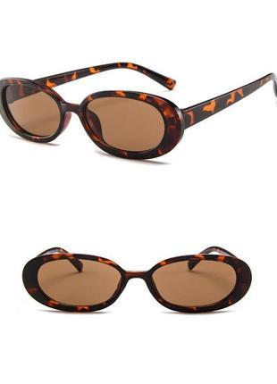 Очки окуляри цветные леопард карамельные в стиле 90-х трендовые новые2 фото