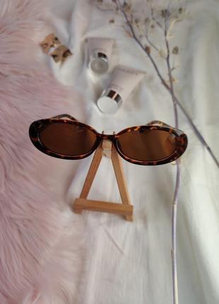 Очки окуляри цветные леопард карамельные в стиле 90-х трендовые новые6 фото