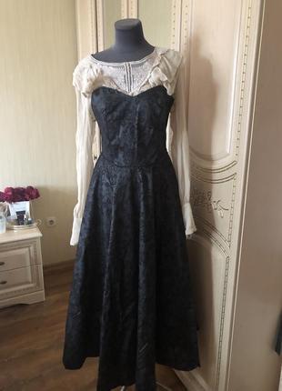Роскошное пышное платье сарафан с напылением, laura ashley