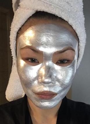 Искрящаяся золотая маска для лица instaglammers silver glam glow