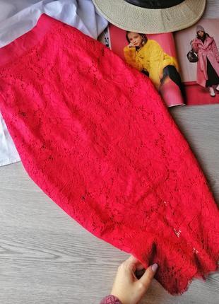 Красивая кружевная юбка миди