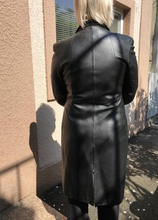 Кожаный кардиган/кожаная куртка/натуральное пальто/кожаное пальто