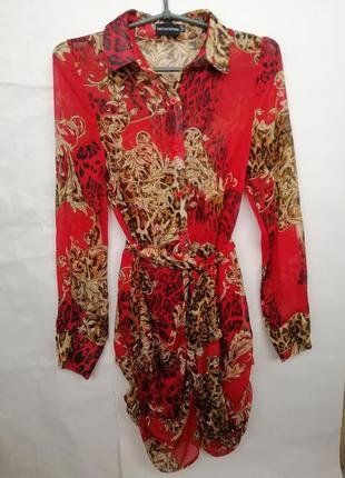 Люксовое шифоновое  платье  ptl