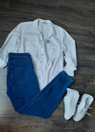 Стильные синие джинсы/джегинсы