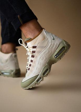 Nike sneakerboot beige кроссовки мужские найк