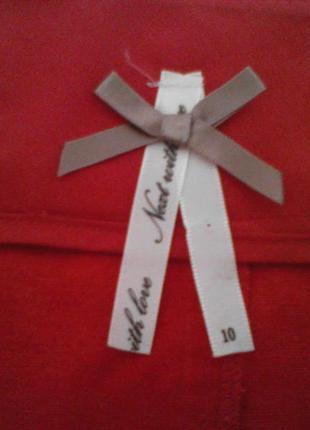 Красная  юбка 55% лен 45% вискоза с кружевной отделкой5