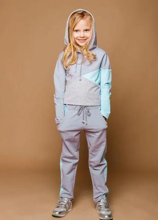Спортивный костюм для девочек хлопок