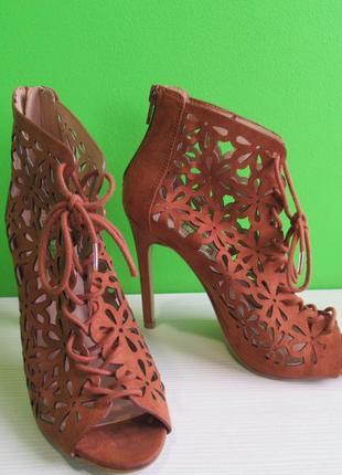 Sale туфли шпилька замшевые на шнуровке atmosphere