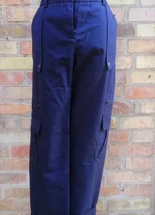 Стильные брюки карго от diane von furstenberg высокая посадка штаны с карманами cargo