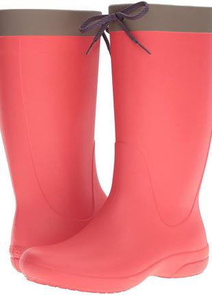 Сапоги кроксы crocs freesail rainboot. оригинал.