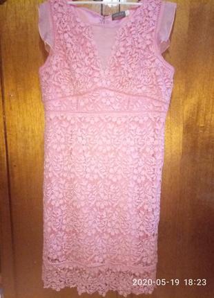 Шикарное нежное кружевное платье mint velvet 50-52р